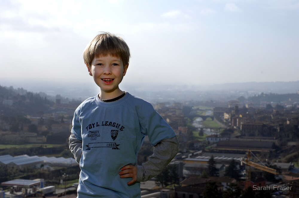 Casa del Sole, The Good Life; Gregory and view of Pescia by Sarah  Fraser