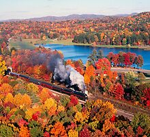 N&W #611 Passing Lake Ponderosa Near Oneida, TN - 4:3 by TrainmasterBob