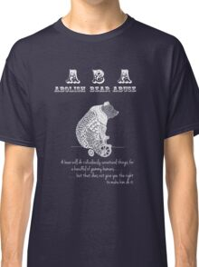 ABA - Circus Bear - Dark Background Classic T-Shirt