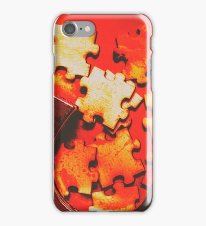 Unsolved crime iPhone Case/Skin