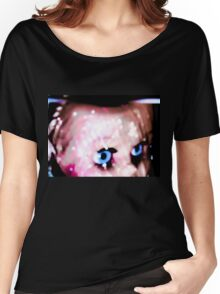 fierce blue doll eyes Women's Relaxed Fit T-Shirt