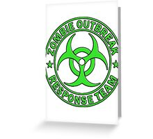 ZOMBIE RESPONSE TEAM round green  Greeting Card