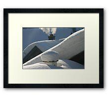 snow everywhere Framed Print