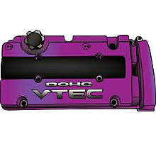 Honda H22 Valve Cover - Purple Photographic Print