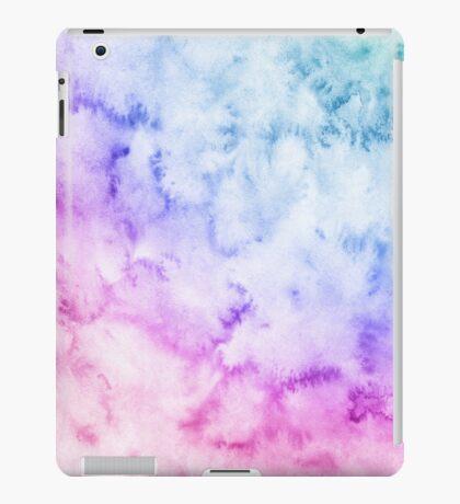 Watercolor background. Soft. Blue, pink, purple. iPad Case/Skin