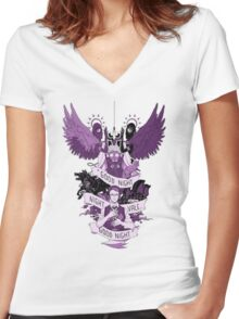 Welcome to Night vale Women's Fitted V-Neck T-Shirt