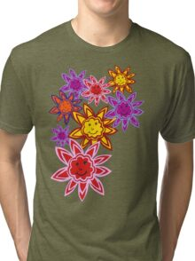 Happy Flowers Tri-blend T-Shirt