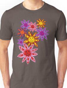 Happy Flowers Unisex T-Shirt