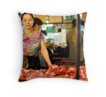 A Woman Armed Throw Pillow