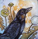 Dandelion and Crow by Lynnette Shelley