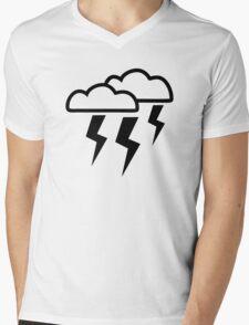 Clouds lightning Mens V-Neck T-Shirt