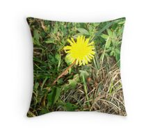 The Lowly Dandelion Throw Pillow