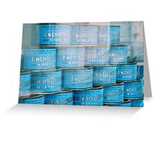 Anchovy Tins Greeting Card