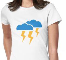 Thunderstorm lightning Womens Fitted T-Shirt