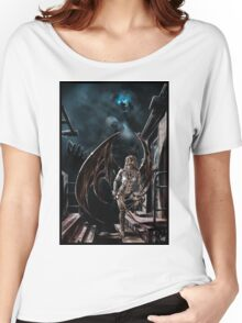 Robot Angel Painting 004 Women's Relaxed Fit T-Shirt