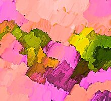 For The Love of Pink Abstract by Saundra Myles