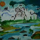 mountains oil painting by oilersfan11