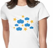Clouds stars Womens Fitted T-Shirt
