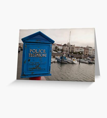 Vintage Police Telephone Box Greeting Card