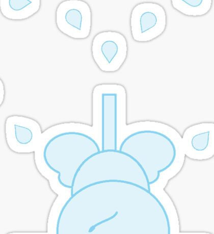 LITTLE LOVE ELEPHANT blue heart Sticker