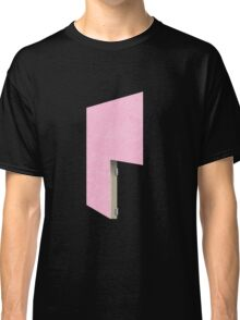 Glitch Homes Wallpaper pink stucco right divide Classic T-Shirt