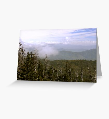 Low Clouds Over The Smokys Greeting Card