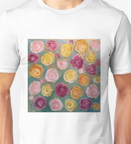 Flowers and Gold Unisex T-Shirt