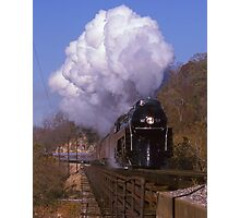 Norfolk & Western #611 Over The New River At Radford, VA Photographic Print