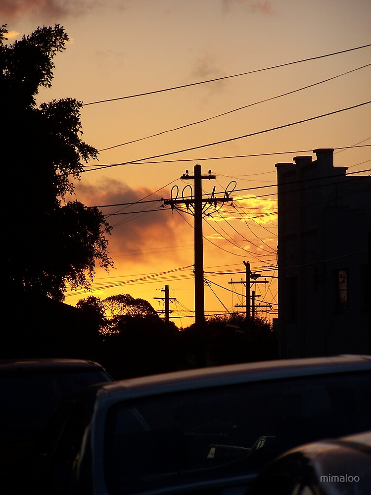 Sunset in Cloey by mimaloo