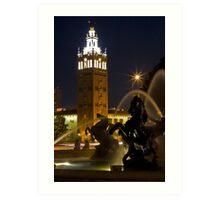 Kansas City Plaza Fountain Art Print