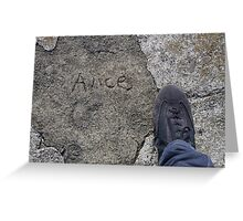 My name is Alice Greeting Card