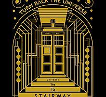 Stairway to the Universe in TARDIS Style by LeslieHarris