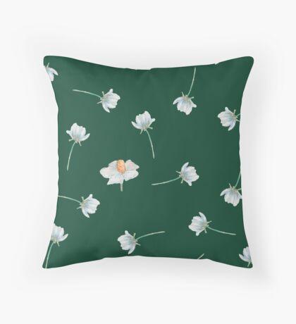Wildflowers Pattern Throw Pillow