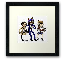Team Free Willies Framed Print