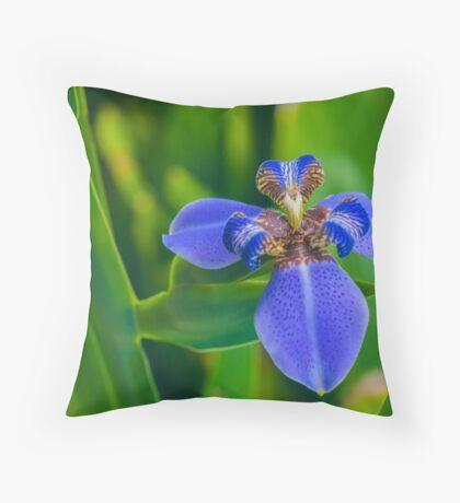 Dutch Iris Throw Pillow