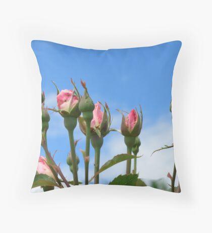 Rose buds Throw Pillow