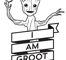 I AM GROOT - Pocket Print by lugervandross