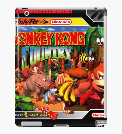 Donkey Kong Country Super Nintendo Collection iPad Case/Skin