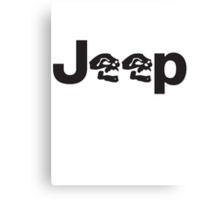 JEEP SKULLS Canvas Print