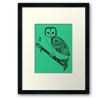 Intricate barn owl Framed Print