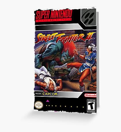 Street Fighter 2 Super Nintendo Collection Greeting Card