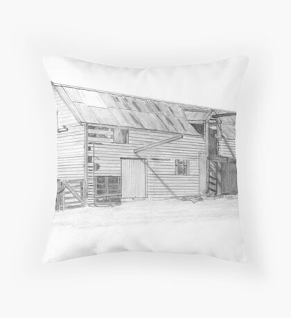 Old Shearing Shed Throw Pillow