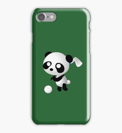 Golf Panda - Cute Funny Cartoon For Golfing Sports Lover People  iPhone Case/Skin