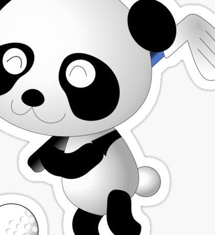 Golf Panda - Cute Funny Cartoon For Golfing Sports Lover People  Sticker