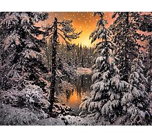Winter Wounder Land ~ Big Lake ~ Photographic Print