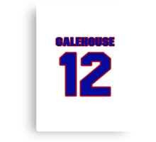 National baseball player Denny Galehouse jersey 12 Canvas Print