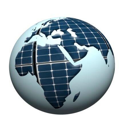 Solar panel planet Sticker