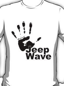 Jeep Wave black color design T-Shirt