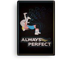 """Always Perfect"" Wrestling Design Canvas Print"