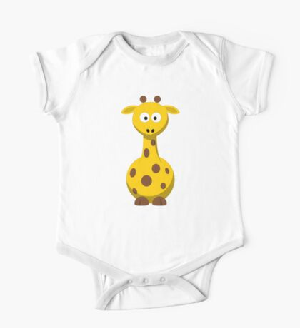 Giraffe Cartoon Drawing - Cute Funny Gift Design For Animal Lover Person - Shirts and Gifts One Piece - Short Sleeve